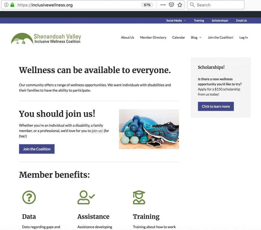 register at Shenandoah Valley Inclusive Wellness Coalition