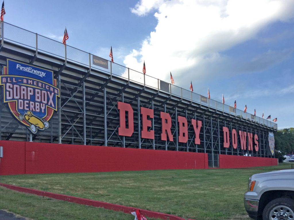 Photo of Derby Downs grandstands