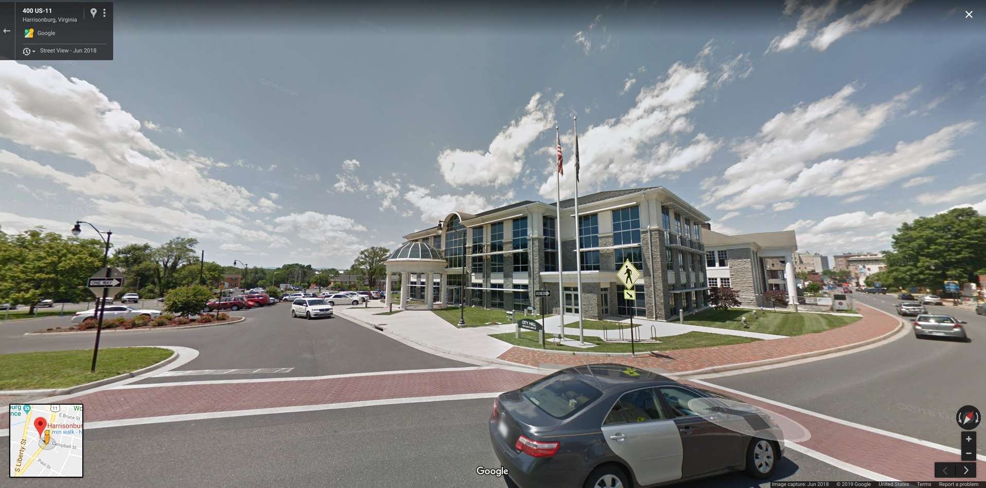 Google Street View: Harrisonburg City Hall